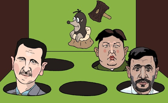 """Obama không chơi trò """"đập con chồn"""" (""""play whack-a-mole""""). Nguồn: OntheNet"""