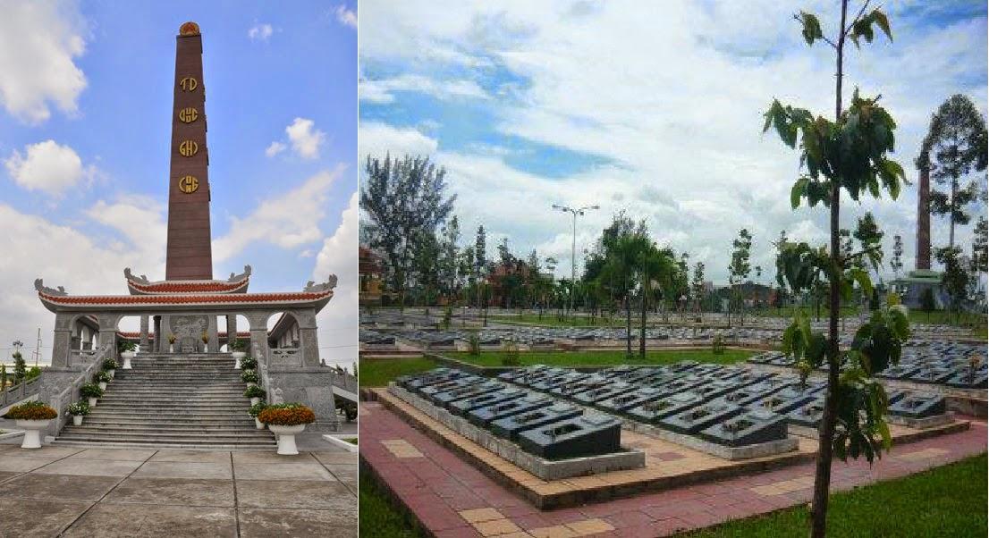 Nghĩa trang liệt sĩ CSVN tại Bình Dương. Nguồn: OntheNet