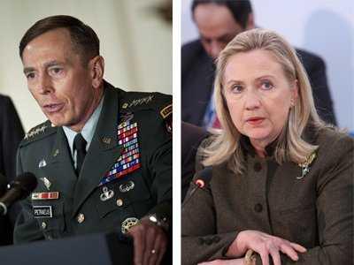 Trường Petraeus và Cựu Ngoại trưởng Clinton. Nguồn: OntheNet