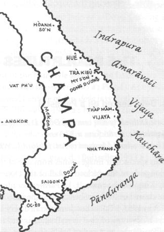 Bản đồ Champa cổ. Nguồn: nguoicham.com