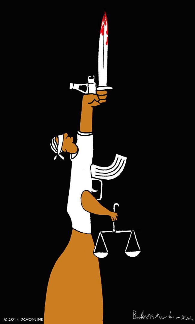 Công lý của đảng AK Ba Đình. Tranh Babui.