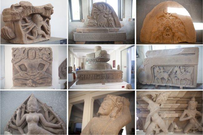 Vài hình ảnh ghi lại nghệ thuật Champa ở viện bảo tàng tại Đà Nẵng. Ảnh : Misou / Washinton D.C.