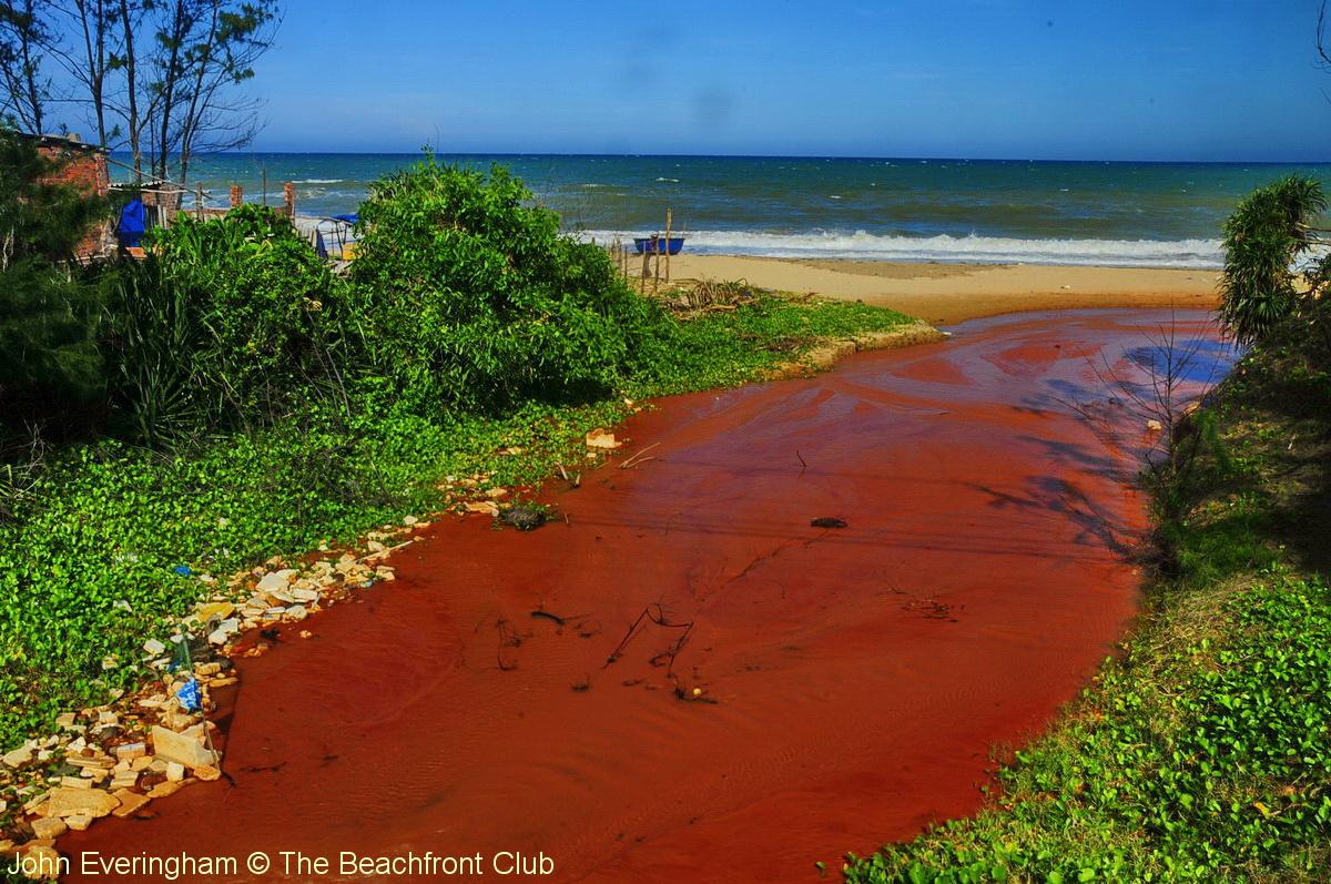 Mũi Né, Phan Thiết, Việt Nam. Điều này khủng khiếp nhìn dòng nước từ làng Mũi Né xuống biển ... sau đó được rửa sạch đối với những khu nghỉ mát. Nguồn: John Everingham © The Beachfront Club