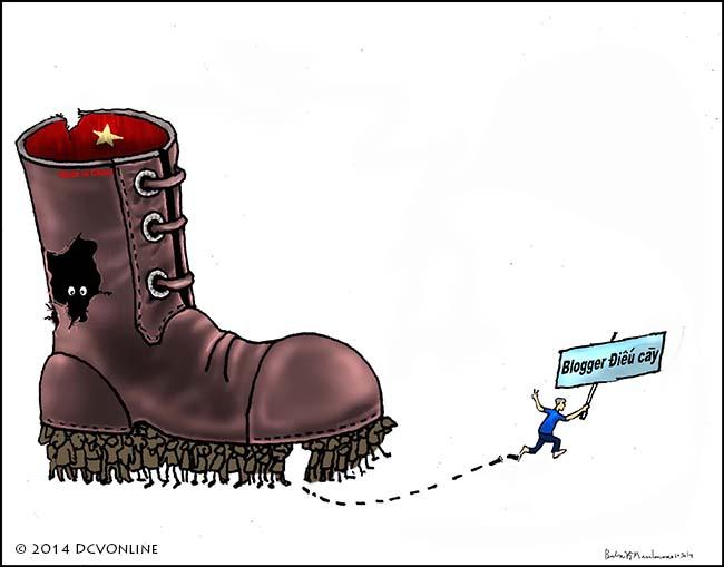 Tự do và nhân quyền cho Điếu cày . Tranh Babui.