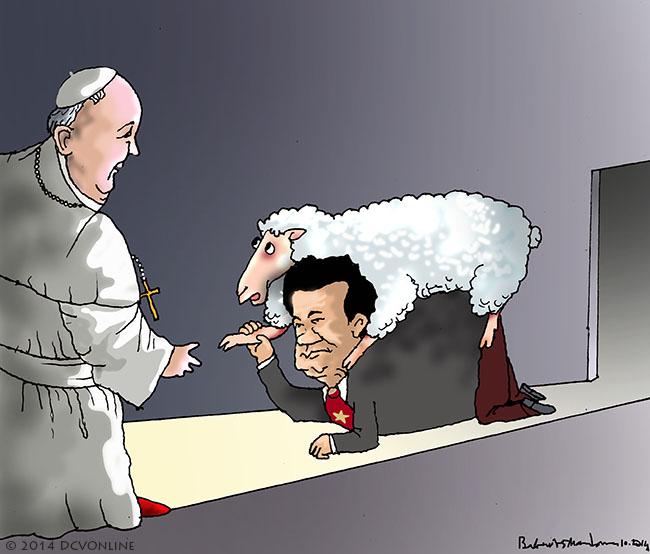 Dũng đến Vatican. Tranh Babui.