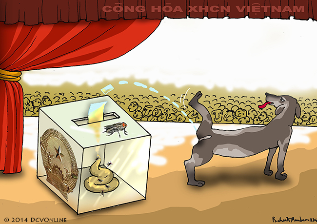 Quốc hội bù nhìn bỏ phiếu tín nhiệm. Tranh Babui.