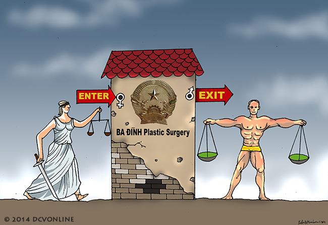 Công lý Ba Đình chuyển giới. Tranh Babui