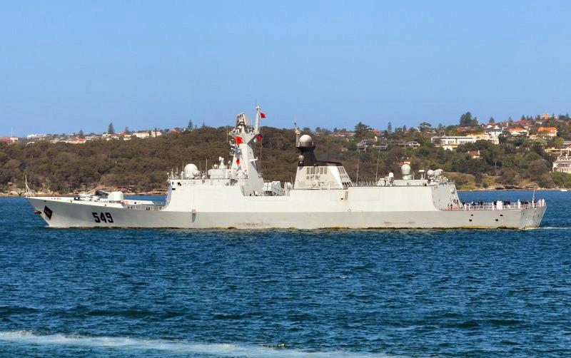 Khu trục hạm Thường Châu ngoài cảng Sydney gần Steele Point. 22 December 2012. Nguồn:  shipspotting.com