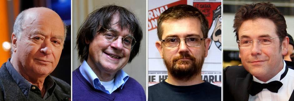 Wolinski, Cabut, Charb và Tignous. Ảnh: AFP / Getty Images