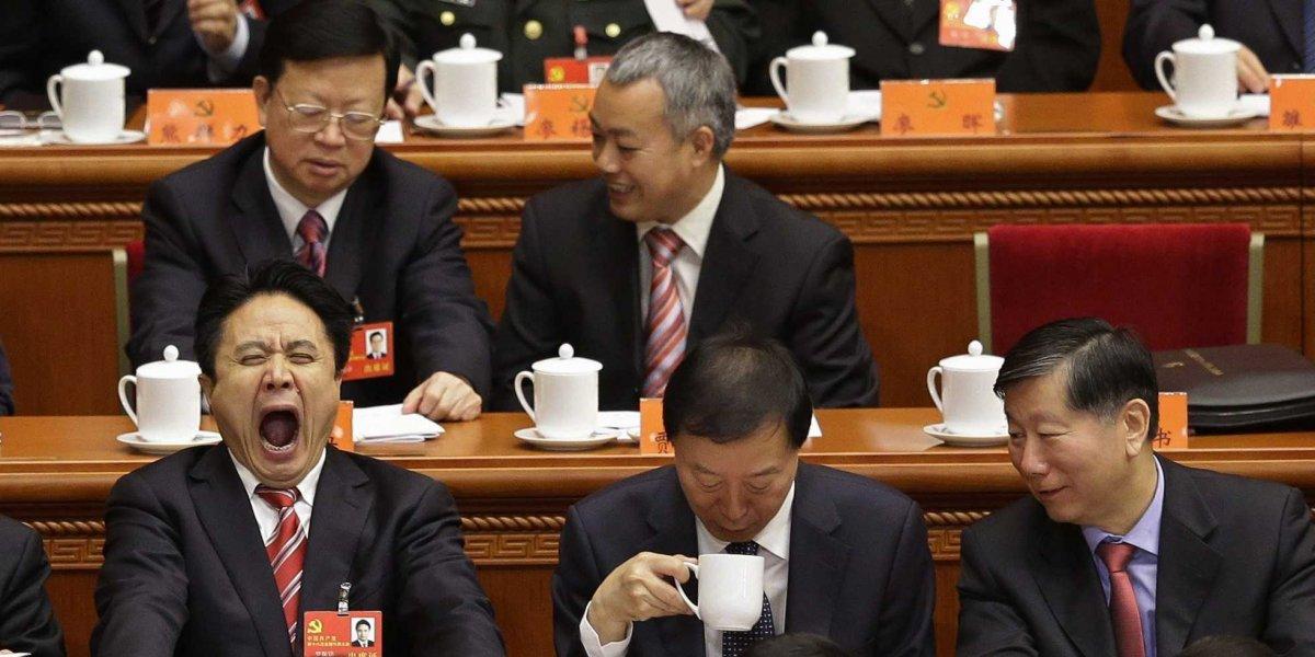 Đại biểu ngồi chờ lễ khai mạc Đại hội Đảng Cộng sản Trung Quốc lần thứ 18 tại Đại lễ đường Nhân dân ở Bắc Kinh, ngày 8 tháng mười một năm 2012. Nguồn: Reuters