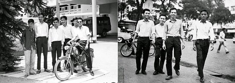 Bạn học Plan Colombo 1964: tiếng Pháp (trái), tiếng Anh (phải). Nguồn: NKP.