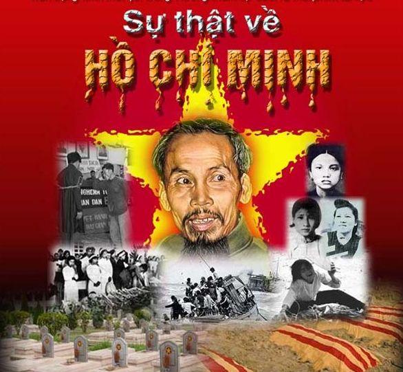 """Ảnh và lời minh họa Hồ Chí Minh trên Báo Tổ Quốc (baotoquoc.com): """"Hiện tượng Hồ Chí Minh là vết nhục có một không hai trong lịch sử"""". Ảnh gốc từ trang vietcongonline.files.wordpress.com"""