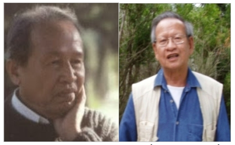 Hình từ trái: nhà văn Võ Phiến và Đặng Tiến [nguồn: internet]