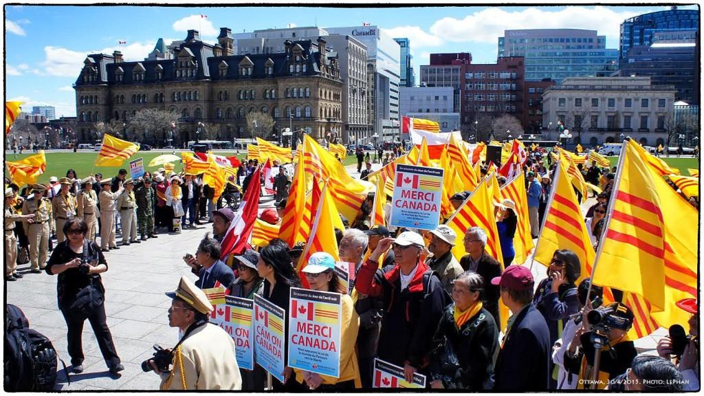 Thank You Canada, Merci Canada, Cảm Ơn Canada. Ottwa 30/4/2015. Ảnh: LePhan