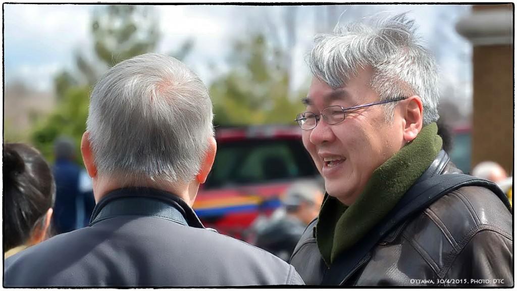 Những người sinh viên Việt Nam 40 năm trước bỗng dưng trở thành người tị nạn cộng sản - Tóc xanh nay đã phai màu. Ottawa, 30/4/2015. Ảnh: LePhan