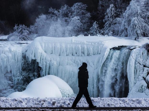 Thác Niagara một ngày tháng 3. Nguồn: Mark Blinch/Reuters
