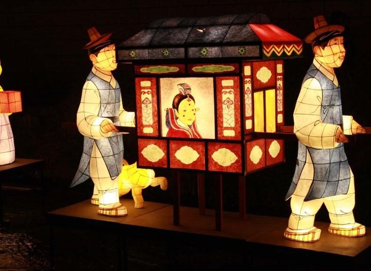 Hội đèn lồng Hanji ở Đại hàn Dân Quốc. Nguồn:  www.goexploreasia.com