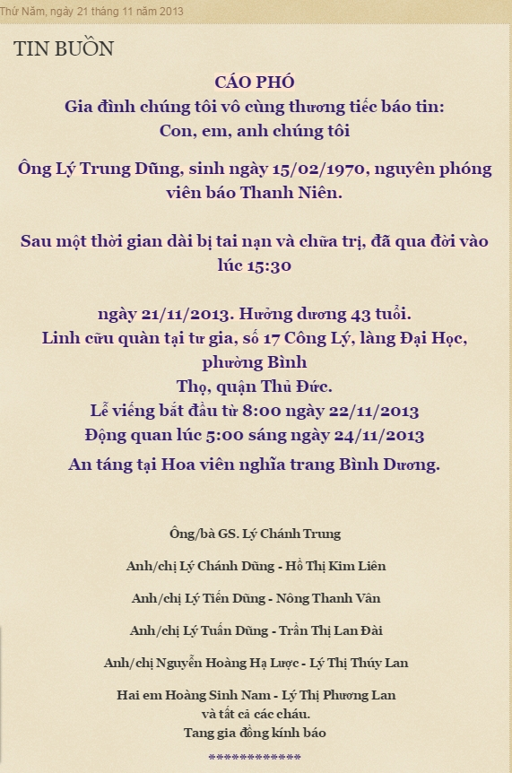Nguồn:  http://tatrungtravinh.blogspot.ca/2013/11/tin-buon.html