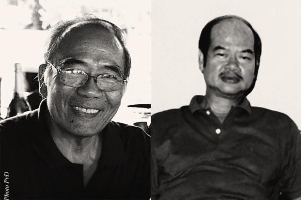 (T) Lữ Phương (Ảnh: PvD). (P) Nguyễn Trọng Văn (1940-2013)