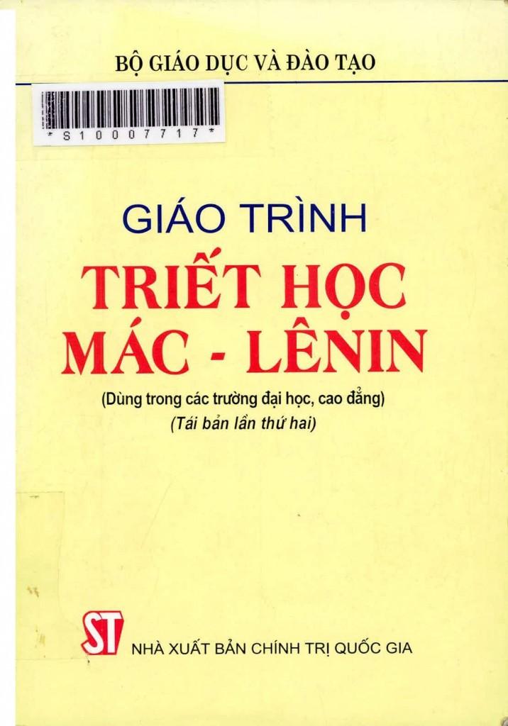 Triết học Mác-Lênin. Nguồn:  NXB Chính trị Quốc gia