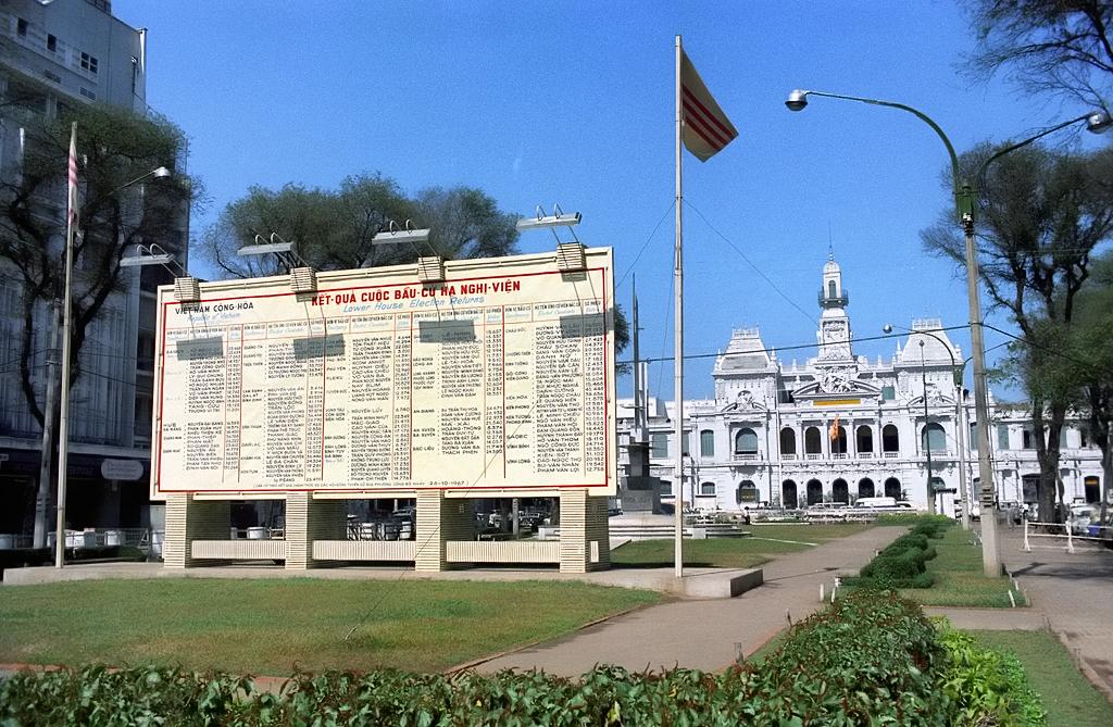 SAIGON 1967 - Kết quả bầu cử Hạ Nghị Viện tháng 10-1967 - Nguồn ảnh: Ken