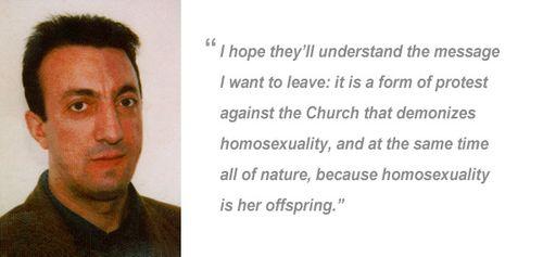 Alfredo Ormando và lời cuối của ông. Nguồn: www.rmnetwork.org