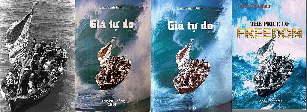 Từ trái qua phải: 1 - Hình gốc của Phil Eggman; 2- Giá Tự do - Truyền Thông; 3. Giá Tự do ở NamKyLucTinh.org; 4 - The Price of Freedom. Nguồn: DCVOnline tổng hợp