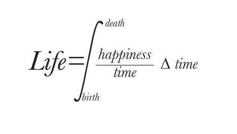 Đời sống là nguyên hàm của hạnh phúc với thời gian. Nguồn: Teddy Larkin
