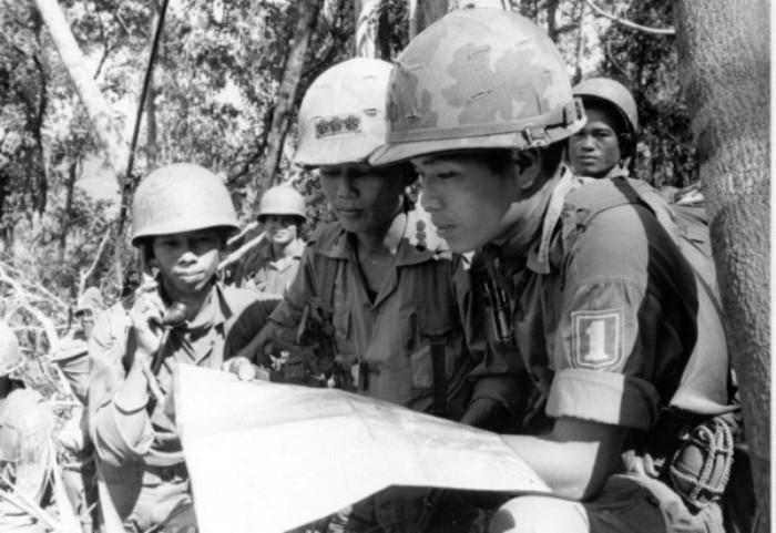 Chiến sĩ Sư đoàn 1 Bộ binh trong trận Lam Sơn 719. Nguồn: