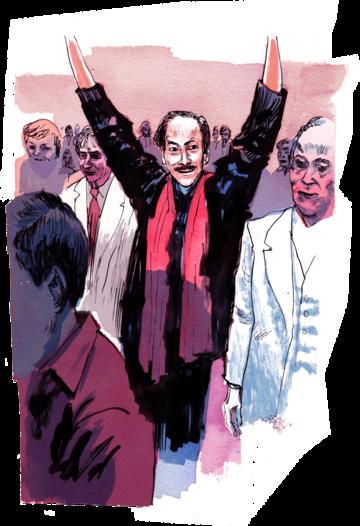 Hinh minh hoạ: ông Hoàng Cơ Minh tại Đại hội Chính nghĩa, 1983, Washington, D.C.. Nguồn: ProPublica