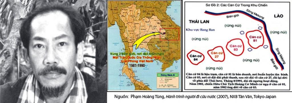 Cựu Phó Đề đốc Hoàng Cơ Minh (1935-1987). Căn cứ của Mặt trận ở Ubon, đông bắc Thái Lan, gần vùng viên giới Campuchia và Lào.