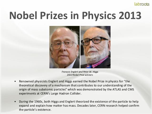 Giải Nobel Vật  lý 2013. Ngồn LabRoot.