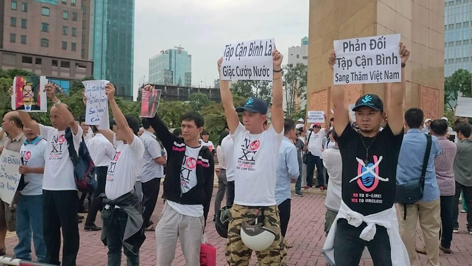 Biểu tình ở Sài Gòn (4/11/2015), Nguồn: Facebook/Nga Thi Bich Nguyen