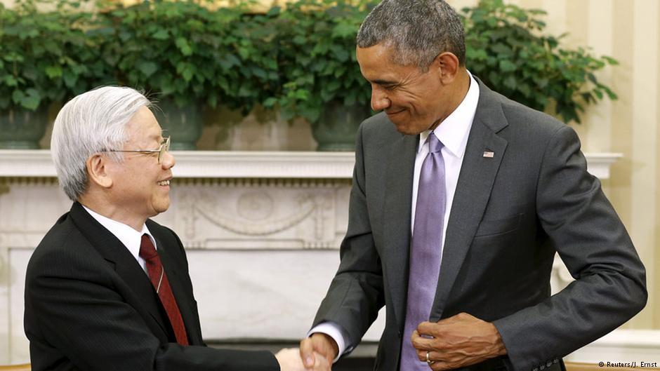 Tổng Bí thư của Đảng Cộng sản Việt Nam (ĐCSVN), Nguyễn Phú Trọng đã đến thăm Mỹ vào năm ngoái trong một nỗ lực để thúc đẩy quan hệ song phương. Nguồn:  © Reuters