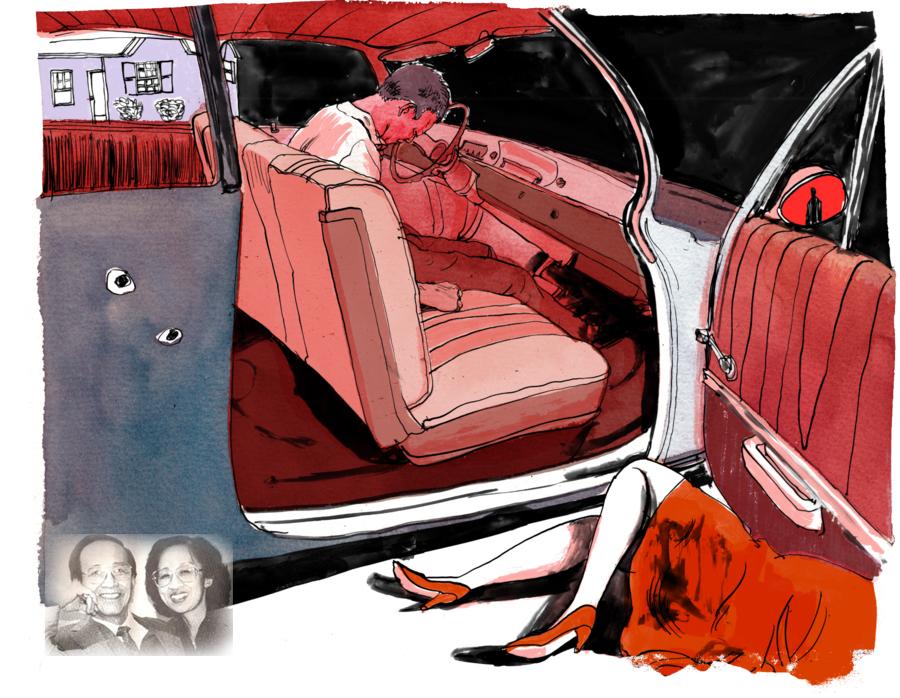 Nhà báo Lê Triết và vợ trong ảnh minh hoạ cảnh hai người bị ám sát. Nguồn: ProPublica/DCVOnline