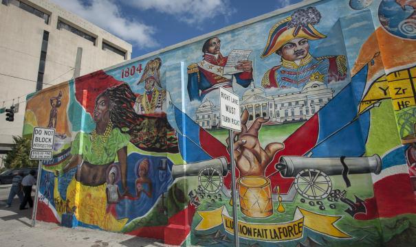 Tranh vẽ trên tường ở Haiti Nhỏ, Miami. Nguồn: www.miamiandbeaches.com