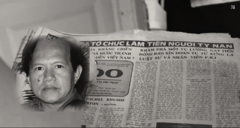 Nhà báo Nguyễn Đạm Phong, Chủ nhiệm báo Tự Do. Nguồn: ProPublica/DCVOnline
