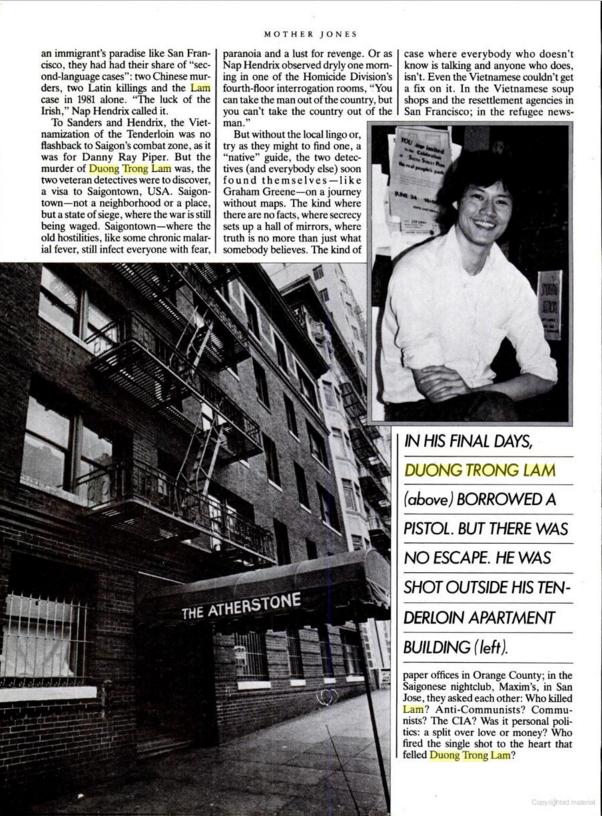 NguỒn: Mother Jones, số tháng 2-3, 1983. trang 16
