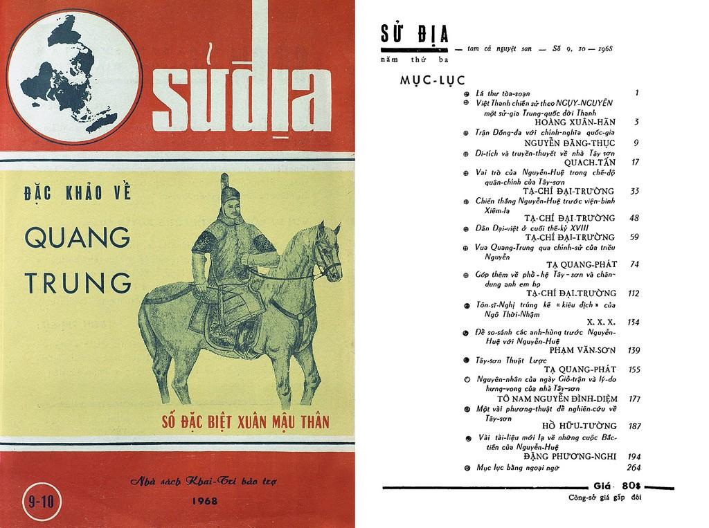 Tập san Sử Địa SỐ ĐẶC BIỆT XUÂN MẬU THÂN - Đặc khảo về QUANG TRUNG (Số 9 & 10 - Tháng 1 đến 6-1968)