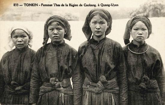 Phụ nữ ở Cao Bằng- Quảng Yên (đàu thế kỷ 20)> Tho native women in Quang Yen. Nguồn: P. Dieulefils - 833.