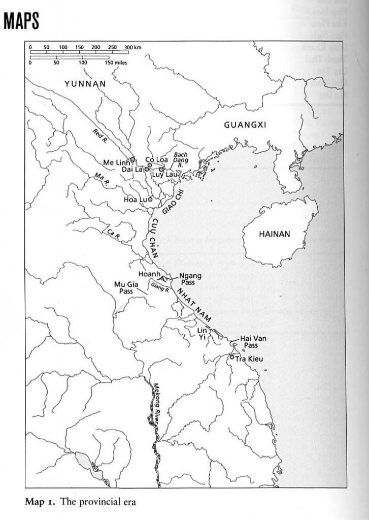 """Bản đồ """"Thời đại chư hầu"""". Nguồn: K. W. Taylor, Ibid., trang 654"""