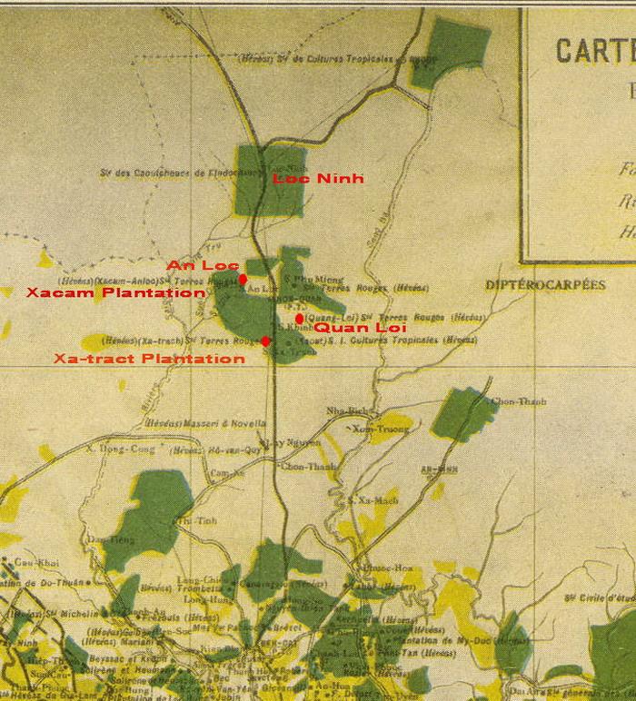 Khu đồn điền cao-su của Pháp. Nguồn: http://www.quanloi.org/