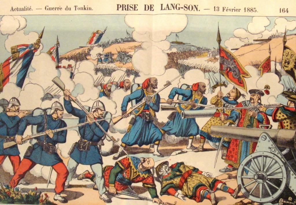 Chiếm Lạng Sơn, 13 tháng Hai, 1885. Chiến tranh Pháp-Thanh. Nguồn: Wikipedia.org