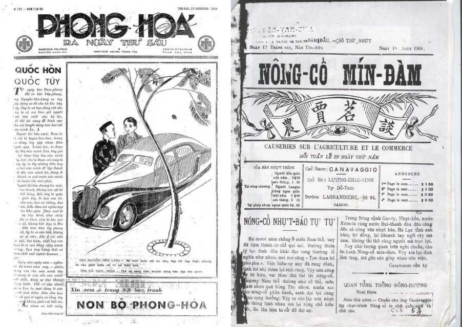 Báo chí Việt Nam thời thuộc địa. Nguồn: OntheNet