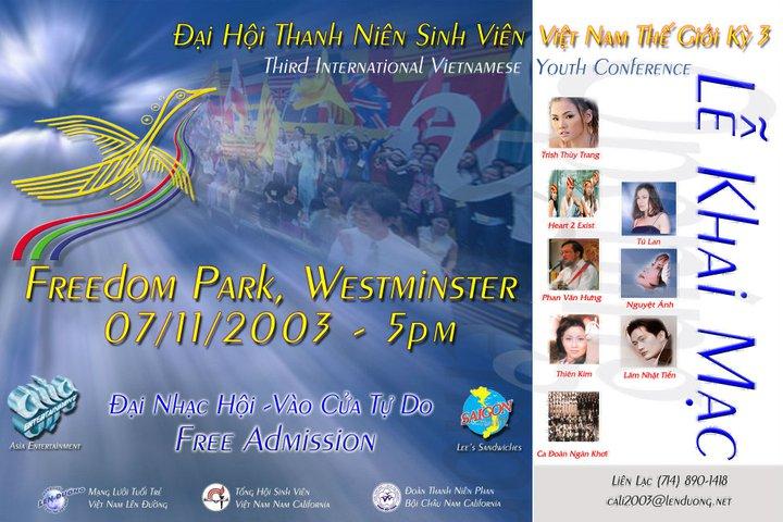 Đại hội thanh niên Vietj Nam Thế giới Kỳ 3. Nguồn: NTT/OntheNet