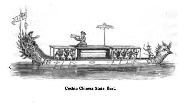 Thuyền của Việt Nam. Nguồn: John Crawfurd, Ibid., trang 349.