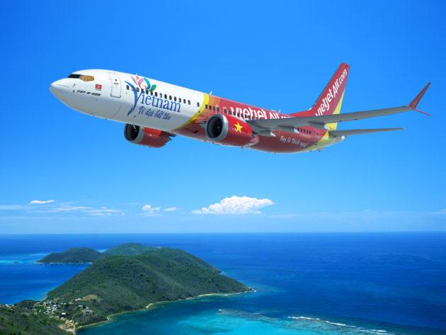 Hình Boing minh hoạ 737 của Vietjet Air.