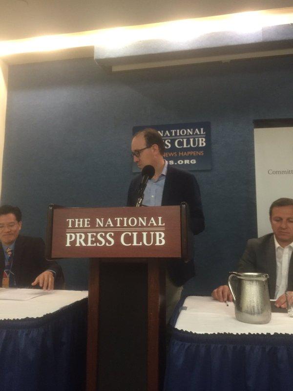 Đại diện của CPJ tại Câu lạc bộ Báo chí Quốc gia (1/5/2016)