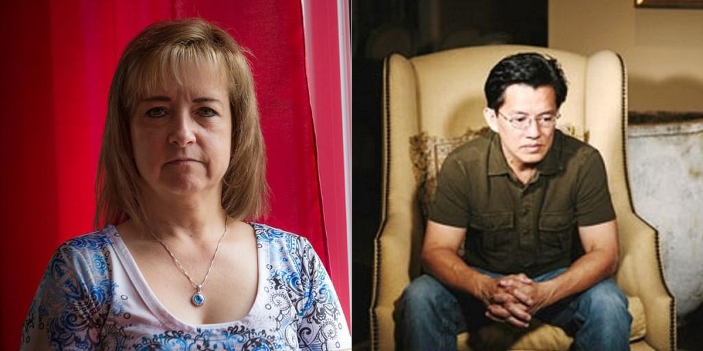 (T) Nicole Roux, 31 năm tìm công lý cho con. (p) Nguyễn Thanh Tú, 33 năm đợi thủ phạm giết cha mình trả lời thần công lý.