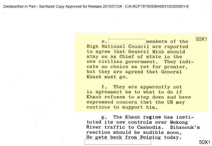 Tài liệu CIA, 8 October 1964